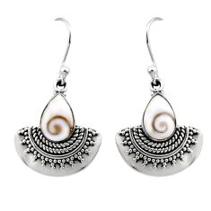 925 sterling silver 4.22cts natural white shiva eye dangle earrings r54188