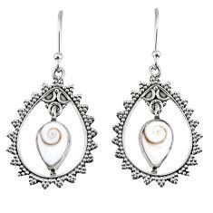 925 sterling silver 4.92cts natural white shiva eye dangle earrings r59649
