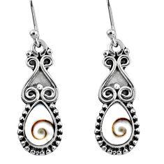 925 sterling silver 5.23cts natural white shiva eye dangle earrings r60473