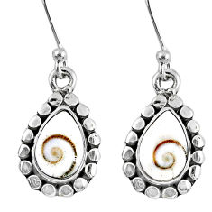 925 sterling silver 5.36cts natural white shiva eye earrings jewelry r60631