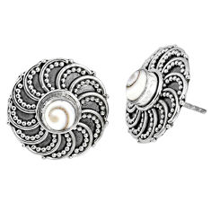 925 sterling silver 1.70cts natural white shiva eye stud earrings jewelry r59712