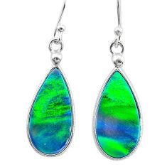 925 sterling silver 5.48cts northern lights aurora opal (lab) earrings t23499