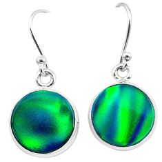 925 silver 6.26cts northern lights aurora opal (lab) dangle earrings t28464