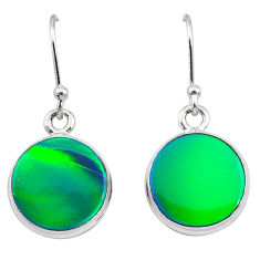925 silver 5.89cts northern lights aurora opal (lab) dangle earrings t28494