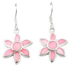 925 sterling silver pink pearl enamel dangle earrings jewelry a75898 c14257
