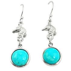 925 sterling silver southwestern fine blue turquoise dangle earrings c10576
