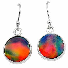 925 silver 5.51cts volcano aurora opal (lab) dangle earrings jewelry t28423