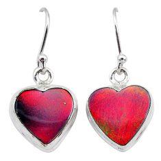 925 silver 5.53cts volcano aurora opal (lab) dangle earrings jewelry t28426