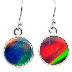 925 silver 5.45cts volcano aurora opal (lab) dangle earrings jewelry t28433