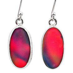 925 silver 6.25cts volcano aurora opal (lab) dangle earrings jewelry t28447