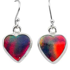 925 silver 5.45cts volcano aurora opal (lab) dangle earrings jewelry t28455