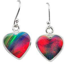 925 silver 5.83cts volcano aurora opal (lab) dangle earrings jewelry t28458