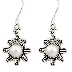 925 sterling silver 4.92cts natural white pearl dangle earrings jewelry d34863