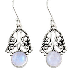 6.72cts natural moonstone 925 sterling silver dangle earrings jewelry d34865