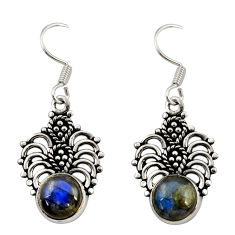 5.36cts natural blue labradorite 925 sterling silver dangle earrings d34868