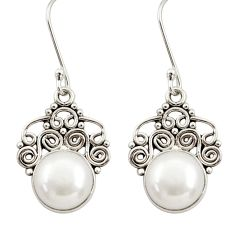 925 sterling silver 9.99cts natural white pearl dangle earrings jewelry d34870