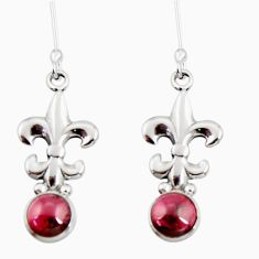 Clearance Sale- 1.94cts natural red garnet 925 sterling silver dangle earrings jewelry d34927
