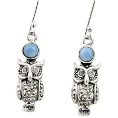 Clearance Sale- 1.88cts natural blue owyhee opal 925 sterling silver owl earrings jewelry d34940