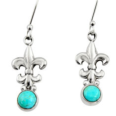 zona mohave turquoise 925 sterling silver dangle earrings d34945