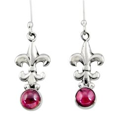 1.82cts natural red garnet 925 sterling silver dangle earrings jewelry d34946