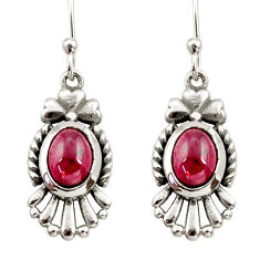 Clearance Sale- 4.53cts natural red garnet 925 sterling silver dangle earrings jewelry d34993