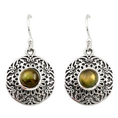 Clearance Sale- 2.24cts natural blue labradorite 925 sterling silver dangle earrings d34995