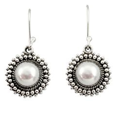 Clearance Sale- 925 sterling silver 8.14cts natural white pearl dangle earrings jewelry d35007