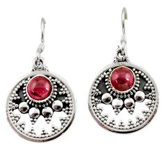 Clearance Sale- 1.96cts natural red garnet 925 sterling silver dangle earrings jewelry d35009