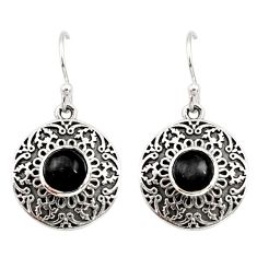 925 sterling silver 1.96cts natural black onyx dangle earrings jewelry d35017