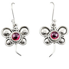 Clearance Sale- 925 sterling silver 1.74cts natural red garnet butterfly earrings jewelry d35044
