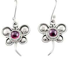 Clearance Sale- 1.81cts natural red garnet 925 sterling silver butterfly earrings jewelry d35045