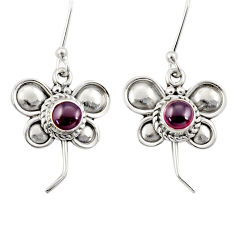 Clearance Sale- 925 sterling silver 1.81cts natural red garnet butterfly earrings jewelry d35047