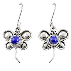 Clearance Sale- 1.81cts natural blue lapis lazuli 925 sterling silver butterfly earrings d35049