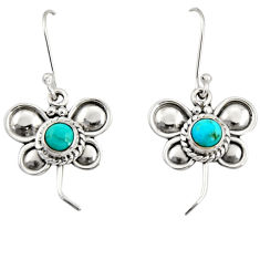 1.81cts green arizona mohave turquoise 925 silver butterfly earrings d35053