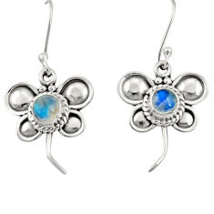 Clearance Sale- 925 sterling silver 1.81cts natural rainbow moonstone butterfly earrings d35054