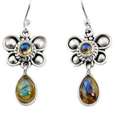 Clearance Sale- 925 sterling silver 5.13cts natural blue labradorite butterfly earrings d35069