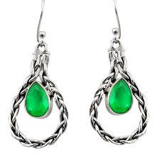 green chalcedony 925 sterling silver earrings jewelry d35079