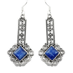 Clearance Sale- 8.98cts natural blue kyanite 925 sterling silver dangle earrings jewelry d35087