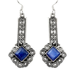 Clearance Sale- 925 sterling silver 8.98cts natural blue kyanite dangle earrings jewelry d35088