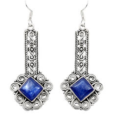 Clearance Sale- 8.99cts natural blue kyanite 925 sterling silver dangle earrings jewelry d35090