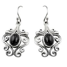 925 sterling silver 4.20cts natural black onyx earrings jewelry d35104