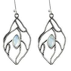 Clearance Sale- 925 sterling silver 5.09cts natural rainbow moonstone earrings jewelry d35118