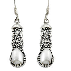 Clearance Sale- 925 sterling silver 4.03cts natural white pearl dangle earrings jewelry d37913