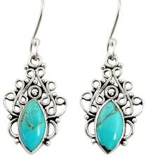 925 silver 5.22cts green arizona mohave turquoise dangle earrings jewelry d37914