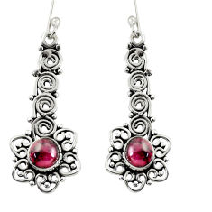 Clearance Sale- 925 sterling silver 2.44cts natural red garnet dangle earrings jewelry d37931