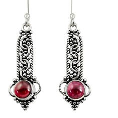 Clearance Sale- 2.09cts natural red garnet 925 sterling silver dangle earrings jewelry d37951