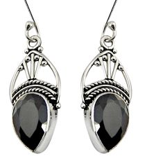 925 sterling silver 7.67cts natural black onyx dangle earrings jewelry d37972