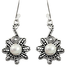 Clearance Sale- 925 sterling silver 2.42cts natural white pearl dangle earrings jewelry d37998