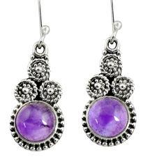 purple amethyst 925 sterling silver dangle earrings d38029