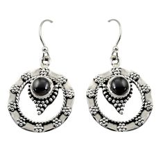2.01cts natural black onyx 925 sterling silver dangle earrings jewelry d38083